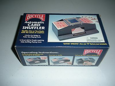 Bicycle Automatic Card Shuffler. shuffles 1 or 2 decks. New in box.