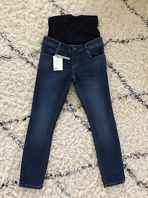 ASOS Maternity Jeans Denim Full Panel Skinny Stretch Dark Wash Size US 4 30x28