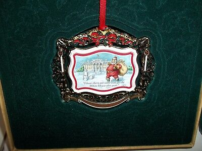 2011 THE WHITE HOUSE Christmas Ornament Santa Snow Kids new in box w/ papers A