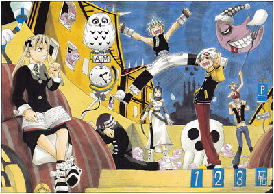 """080 Soul Eater - Shinigami Death the kid Anime 19""""x14"""" Poster"""