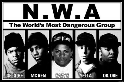 """060 Straight Outta Compton - Ice Cube MC Ren HIPHOP Moive21""""x14"""" Poster"""
