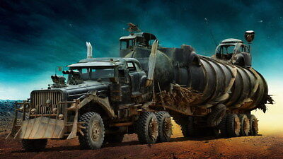"061 Mad Max 4 Fury Road - Fight Shoot Car USA Movie 24""x14"" Poster"