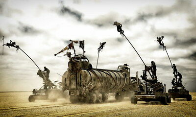 """122 Mad Max 4 Fury Road - Fight Shoot Car USA Movie 23""""x14"""" Poster"""