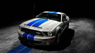 """063 Mustang - Ford Shelby GT500  Classic Racing Car concept 24""""x14"""" Poster"""