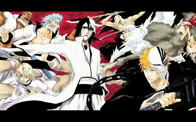 "083 Bleach - Dead Rukia Ichigo Fight Japan Anime 22""x14"" Poster"