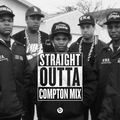 "054 Straight Outta Compton - Ice Cube MC Ren HIPHOP Moive14""x14"" Poster"
