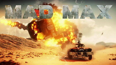 """091 Mad Max 4 Fury Road - Fight Shoot Car USA Movie 24""""x14"""" Poster"""