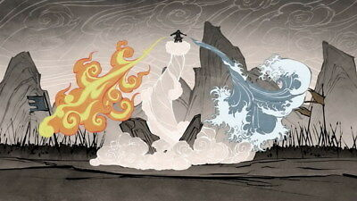"056 Avatar The Last Airbender - Aang Fight Japan Anime 24""x14"" Poster"