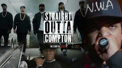 """057 Straight Outta Compton - Ice Cube MC Ren HIPHOP Moive24""""x14"""" Poster"""