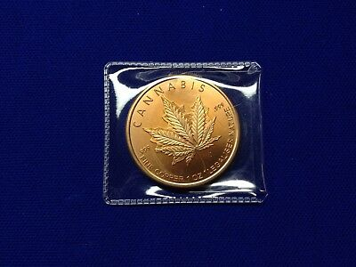 """2014 Silvershield """"cannabis"""" Copper Ounce, .999 Copper With Protective Sleeve"""