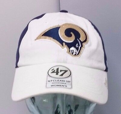 the latest c33b5 401ee Los Angeles Rams NFL  47 Women s Sparkle Cap Adjustable Strap Slouch ...