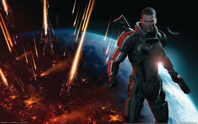 "089 Mass Effect 3 - ME Killer Fighting Shooting Hot TV Game 38""x24"" Poster"