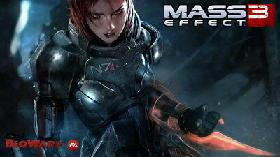 "103 Mass Effect 3 - ME Killer Fighting Shooting Hot TV Game 42""x24"" Poster"