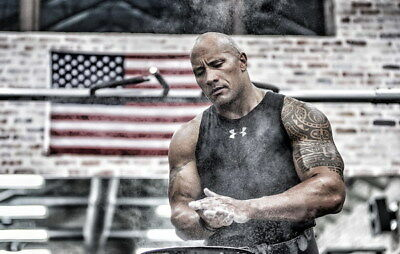 """107 Dwayne Johnson - The Rock Fast Furious Muscle Strong USA Star 37""""x24"""" Poster"""
