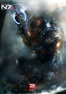 """096 Mass Effect 3 - ME Killer Fighting Shooting Hot TV Game 24""""x33"""" Poster"""