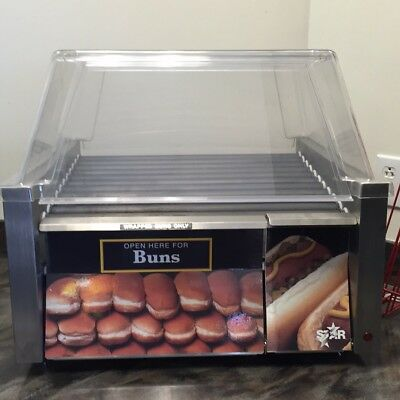 Star Grill Max 30CBD 30 Hot Dog Electric Roller Grill with Chrome Plated Rollers