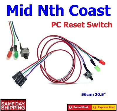 PC Power Reset Switch HDD Motherboard LED Cable Light Wire Kit for Computer