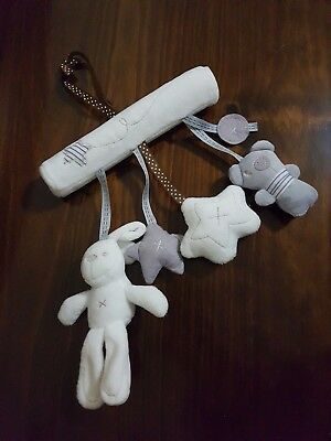 brand new musical soft rabbit teddy star hanging mobile toy for pram carseat cot