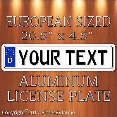 Custom GERMAN EURO license plate tag