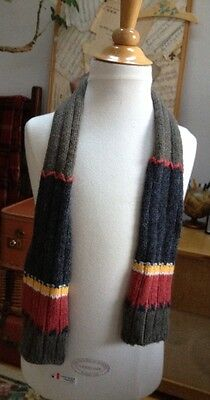 CATIMINI Wool-Blend BOYS Multi STRIPED WINTER Neck SCARF Ribbed Knit 3 4 5 6