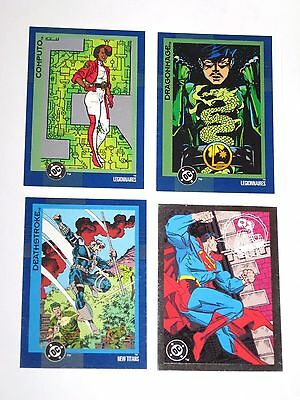 1993 TOPPS DC Comics COSMIC CARDS SERIES 2 Promo 4 Card LOT! SUPERMAN 0000 00
