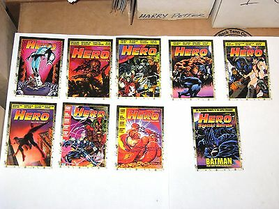 1993 Hero Illustrated Complete Promo 9 Card Set! H1-H8 +S1! Batman! Spider-Man!