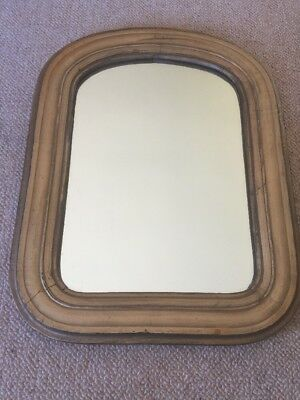 Antique French LOUIS PHILLIP Mirror Gold Leaf Gesso 19th Century 18""