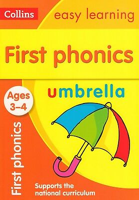 Collins Easy Learning First Phonics Ages 3-4 BRAND NEW BOOK (Paperback 2015)