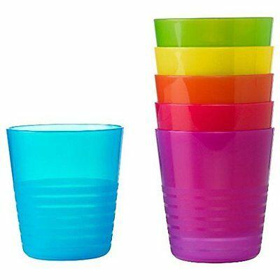 Plastic Cups For Kids Colour Beaker Children Drinking Mug Set 6 Bbq Party Picnic