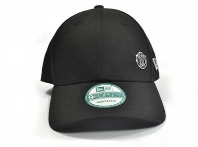 Manchester United New Era 9Forty Mini Metal Crest Black Cap Leather Strap