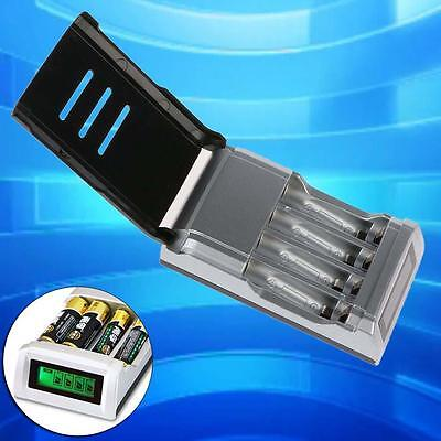 Universal Intelligent LCD Battery Charger Alkaline AAA AA Ni-MH NiCad Battery Aë