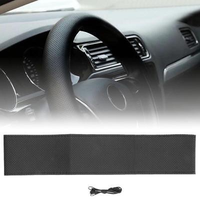 DIY PU Leather Car Auto Steering Wheel Cover 38cm With Needles and Thread Aë
