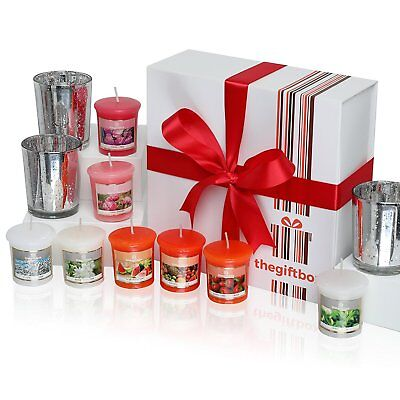 Exclusive Scented Candles Gift Set by TheGiftBox Containing 8 Beautifully and 3