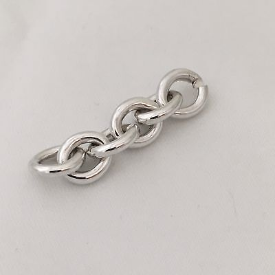 Return to Tiffany & Co Extra Chain Links Repair Lengthening Oval Tag Bracelet