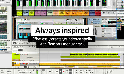 Propellerhead Reason 9.5 Recording/Virtual Instrument Software. FULL-DIGITAL