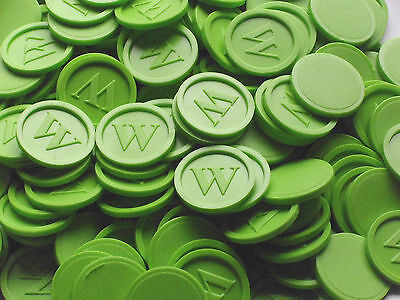Tokens, Deposit Coins, Beverage w- Quantities Selectable Color:Green