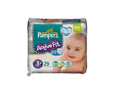 Pampers Active Fit Size 3+ (5-10kg) 116pcs Super Absorbent Stretchy Monthly Pack