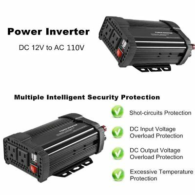 1000W Car Inverter DC 12V to AC 110V Power Inverter auto charger usb Adapter AB