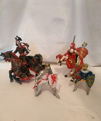 Papo Toy Action Figures Kings &  Knights 2 On Horseback