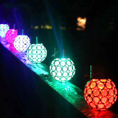 Led Color Changing Solar Powered Outdoor Garden Light Fence Wall Bulb Lamp Decor
