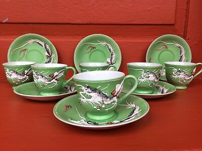 15 pcs Complete Antique Chinoiserie Chinese coffee tea set excellent condition