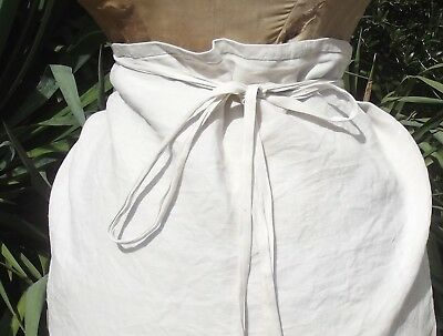 Long Antique French Linen Apron Handmade Pinny Cook Chef Waiter Farmers wife