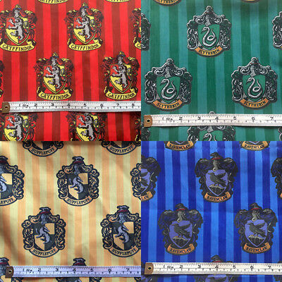 Gryffindor, Slytherin, Hufflepuff or Ravenclaw fabric 147cm x 50cm CHOOSE!!!