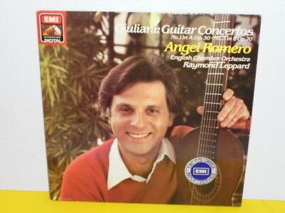 Lp - Angel Romero - Giuliani - Guitar Concertos No. 1 In A Op. 30, No. 3 In F