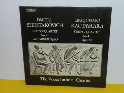 Lp - Voces Intimae Quartet - Shostakovich No 8 In C - Rautavaara No 4 Opus 87