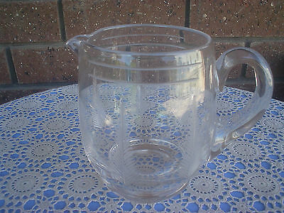 Stuart Crystal Woodchester Jug Large Discontinued Pattern