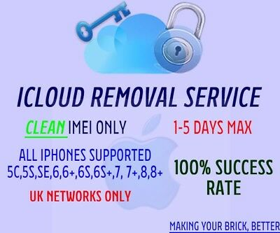 Icloud Removal --  Uk Networks Only -- Cheapest On Ebay