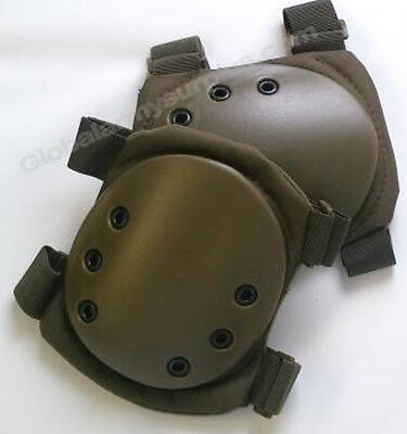 Green tactical swat knee pads for paintball, airsoft (#bte50)