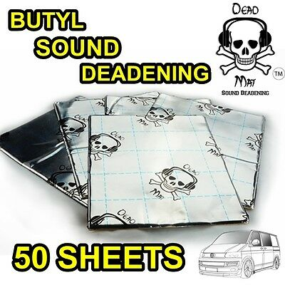 50 Sound Deadening / Proofing Dead Mat Fat 2.2Mm Thick Butyl Foil Tape Dyna Mic