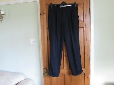 northern soul / 50s twin pleated turn up trousers  W 34 X L 31